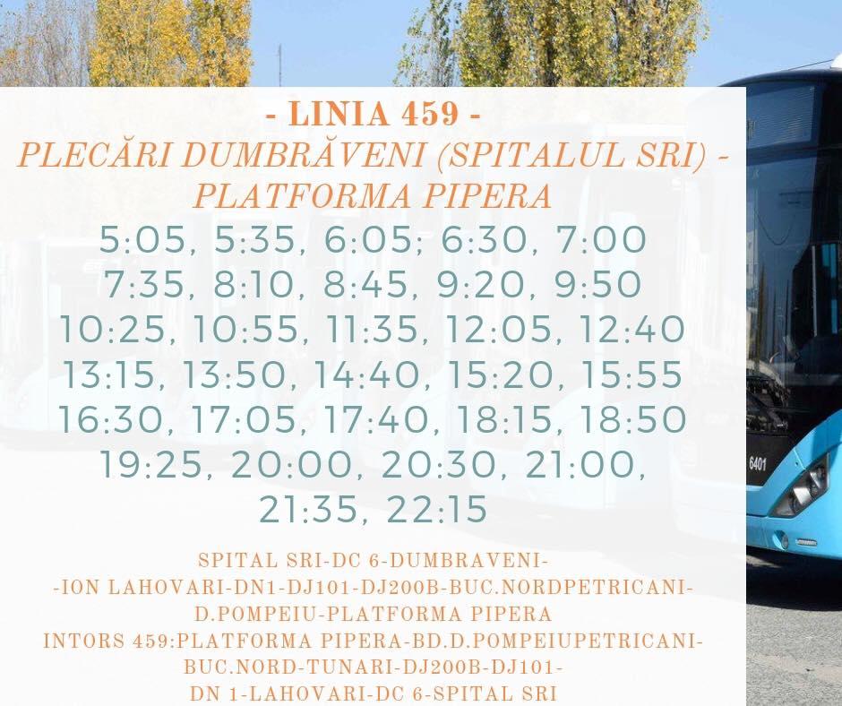 Noua linie de transport public Balotesti - Pipera
